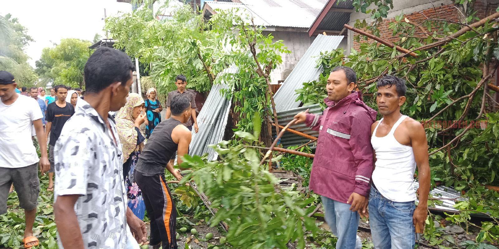 Puting Beliung Hantam Pidie, Tiga Rumah Hancur